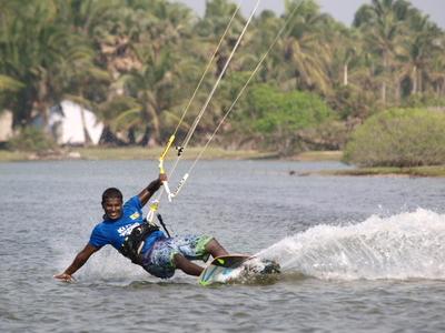 Parasailing on Bentota river